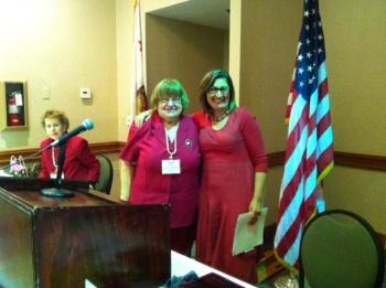 Marjory Hopper, Linda Wilson and guest speaker
